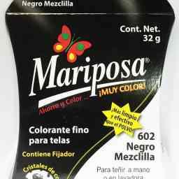 MARIPOSA CRISTALES NEGRO MEZCLILLA 602 DOCENA DOCENA