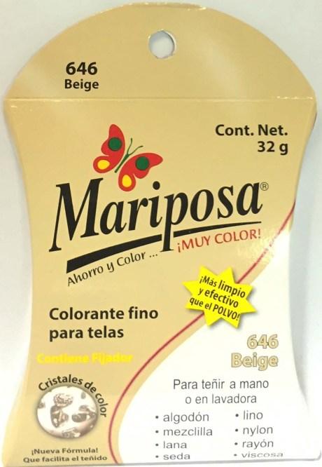 MARIPOSA CRISTALES BEIGE 646 DOCENA