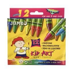 CRAYON KID ART 12 COLORES JUMBO DOC
