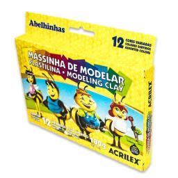 07012 MASA DE MODELAR PLASTILINA 12 COLORES 180GR DOC
