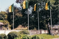 Green and Yellow Two Pannel Vertical Flags