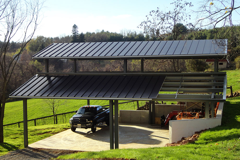 Metal Carports Covered Parking Roof Only Buildings