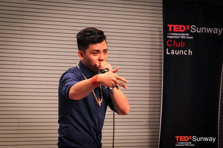 Cody Foo a.k.a. Coex performs live for the audience
