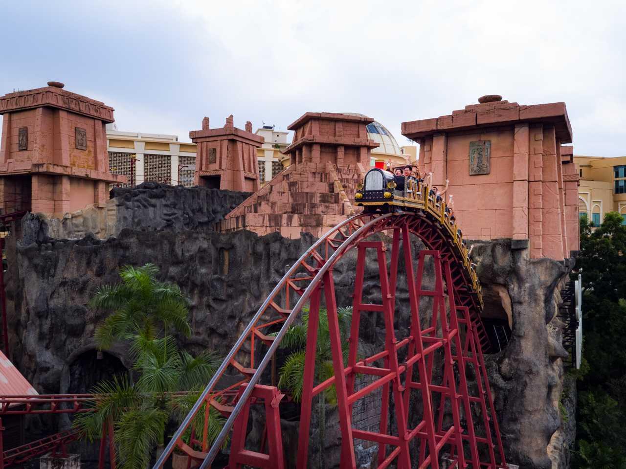 Lost City Scream Coaster - Adventure Park at Sunway Lagoon Theme Park