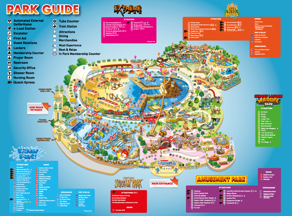 Park Guide of Sunway Lagoon