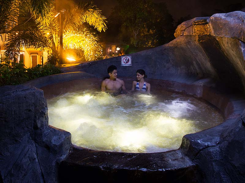 Top Of The World Pool - Lost World Hot Springs & Spa By Night