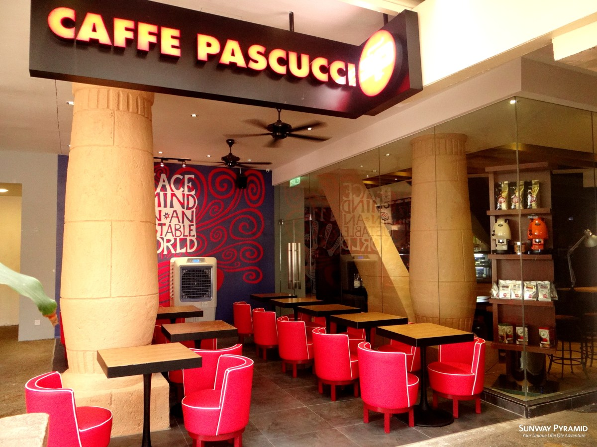 Sipping On Italian Coffee At Caffe Pascucci Sunway Pyramid