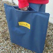 Portable solar panel in bag
