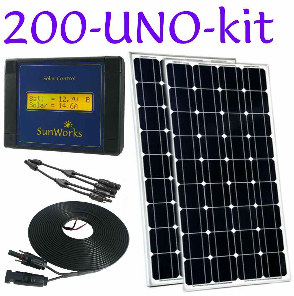 Solar Panel Kit For Boat Motorhome Or Narrowboat 100