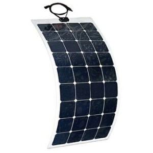 Semi-flexible solar panels