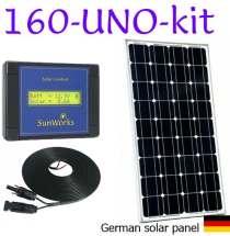 motorhome or narrowboat solar panel kit
