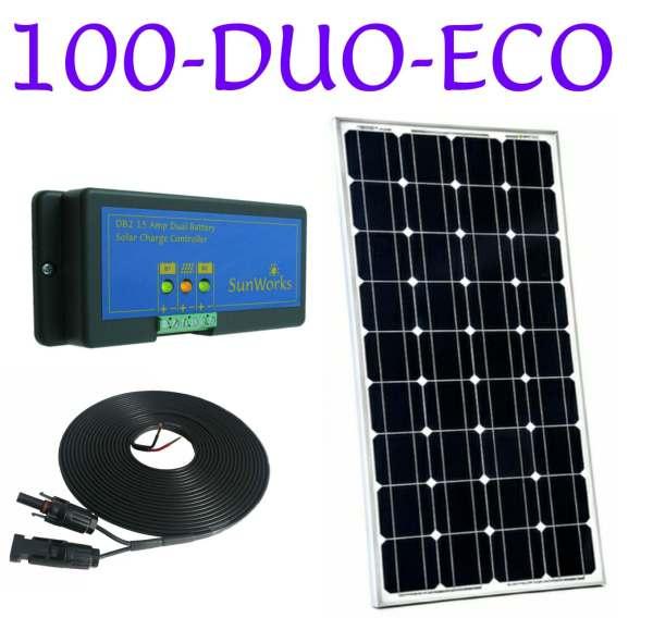 dual battery solar panel kits