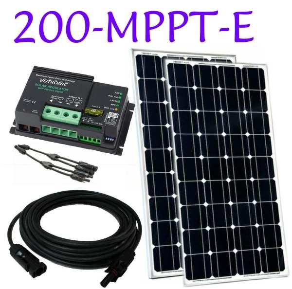 narrowboat mppt solar panel kit