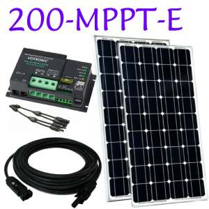 narrowboat mppt solar panel kit