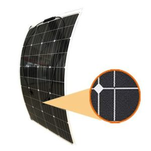 semi-flexible 120 watt solar panel