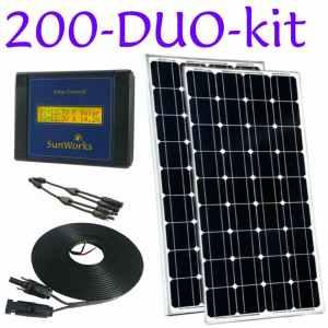 Kits solaires à châssis rigide