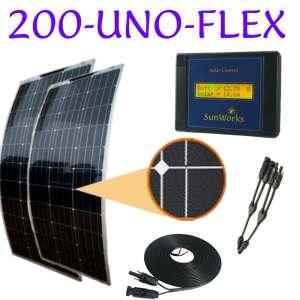 semi-flexible solar panel kits