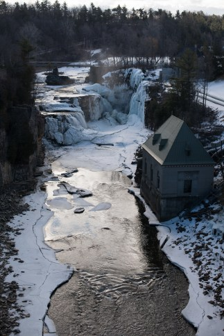 Ausable Chasm is open year-round, and offers hiking and rafting in the summer.
