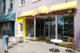 The Koffee Kat, a locally-owned coffee shop, hosts music and art nights, and is widely loved by students.