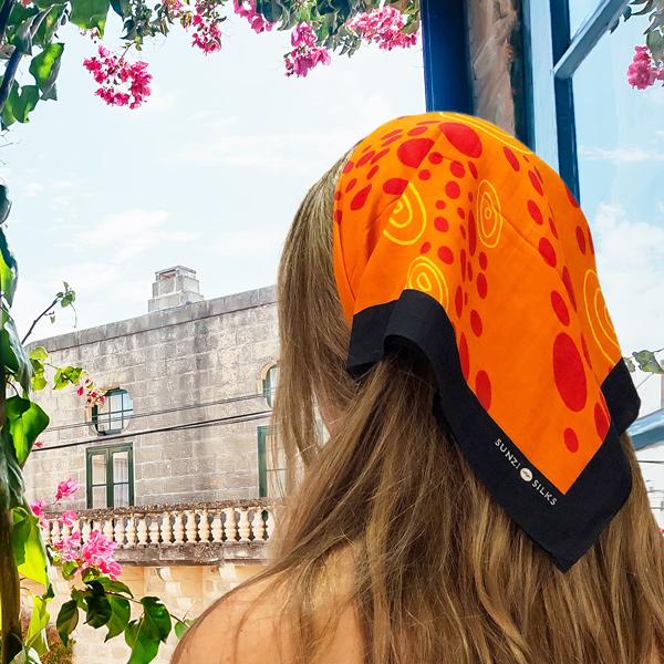 Sunzi Star Dreaming Orange Neckerchief
