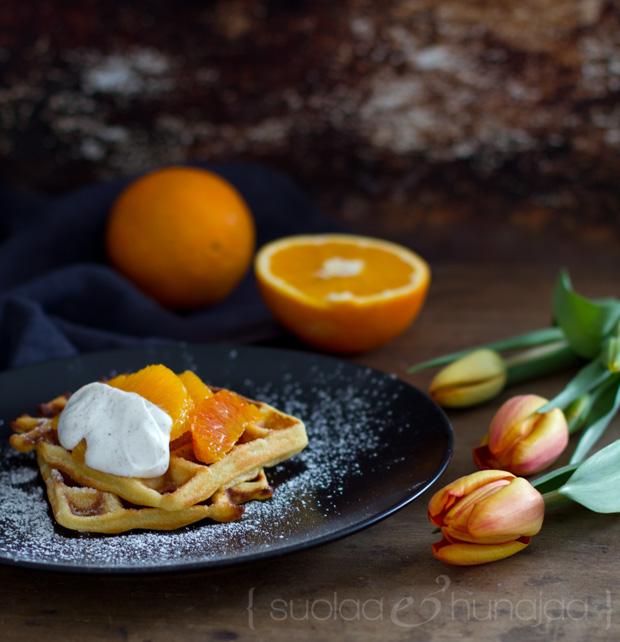 appelsiinivohvelit