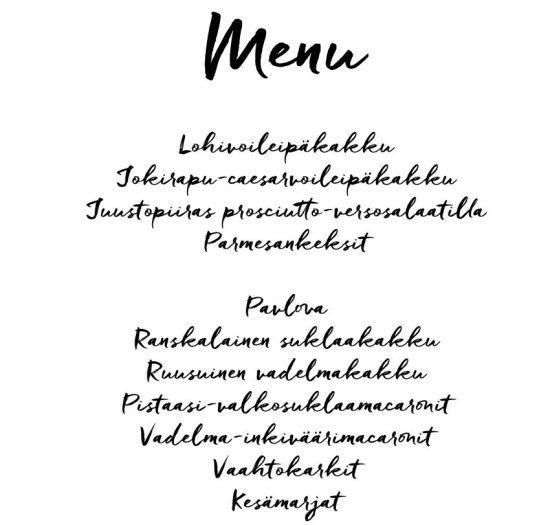 menu-ristiäiset