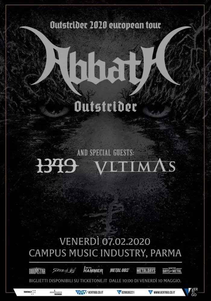 Abbath + VLTIMAS + 1349 dal vivo a Parma: tutti i dettagli