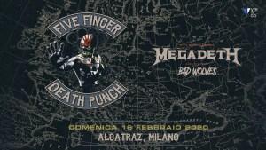 Five Finger Death Punch + Megadeth + Bad Wolves live in Italia: ecco i dettagli