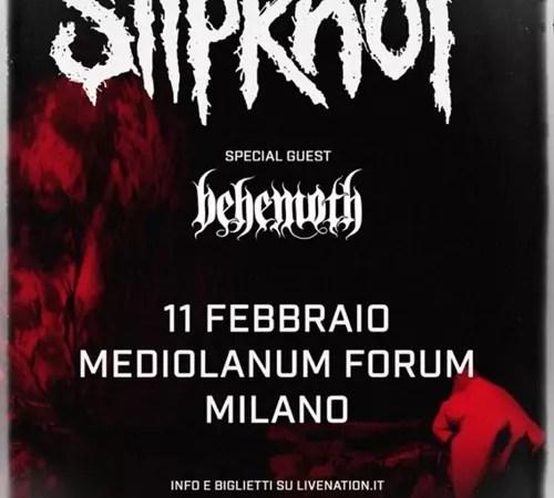 Slipknot: una data in Italia a febbraio con i Behemoth