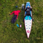 Stand up Paddler on a iSUP