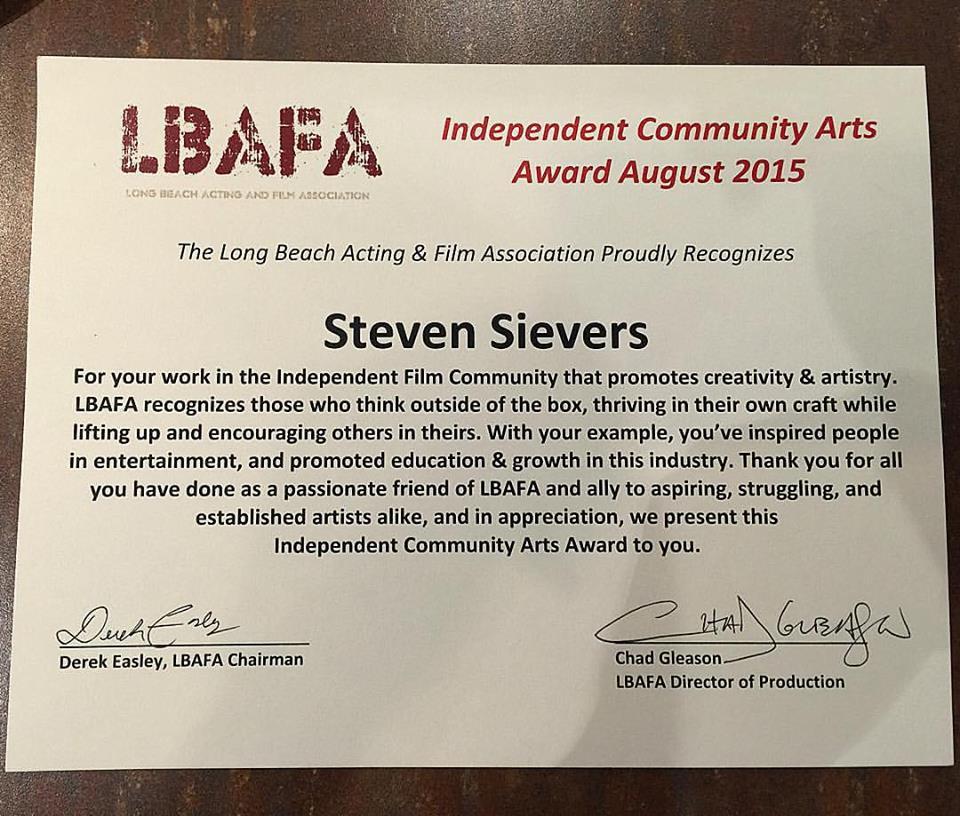 LBAFA_SteveSievers_Award