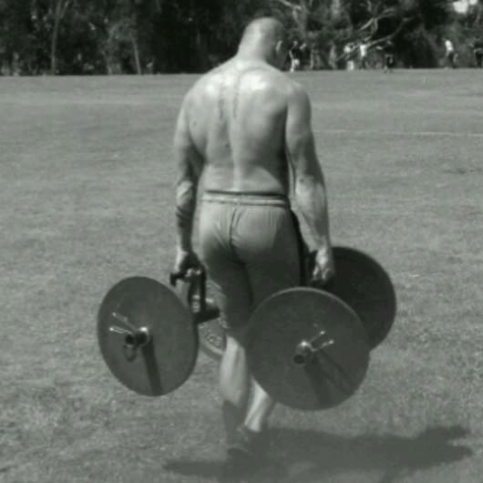 back exercise big back farmer carry