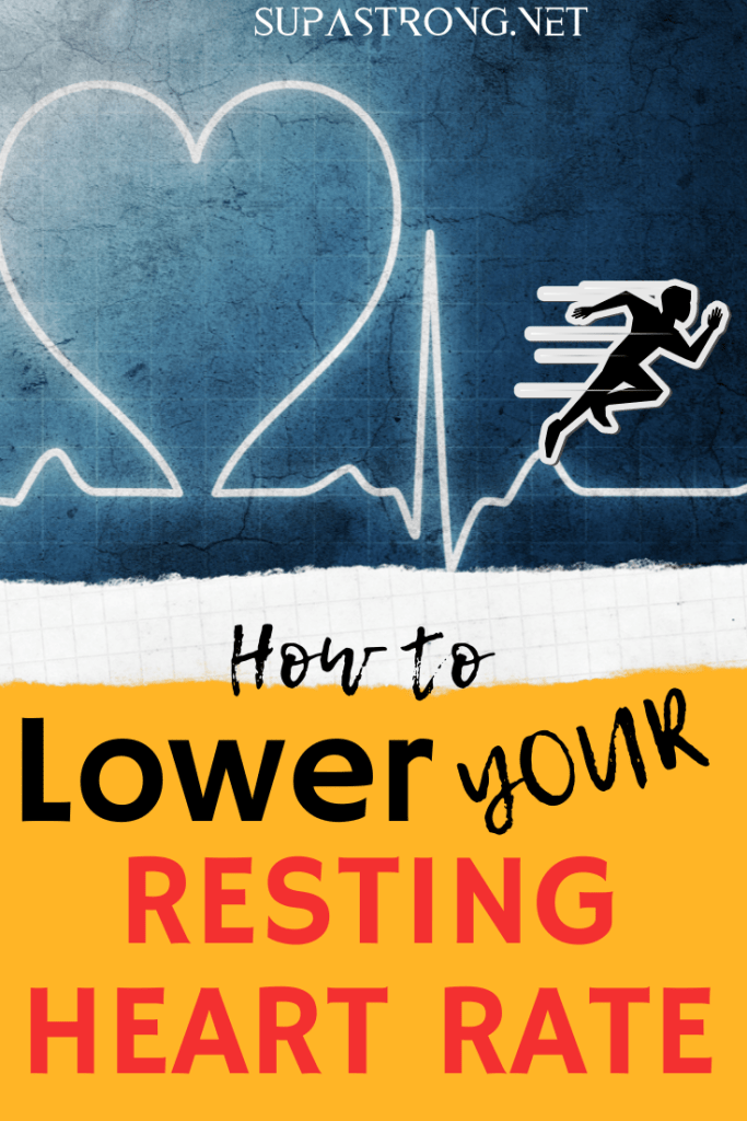 how to lower your resting heart rate pin