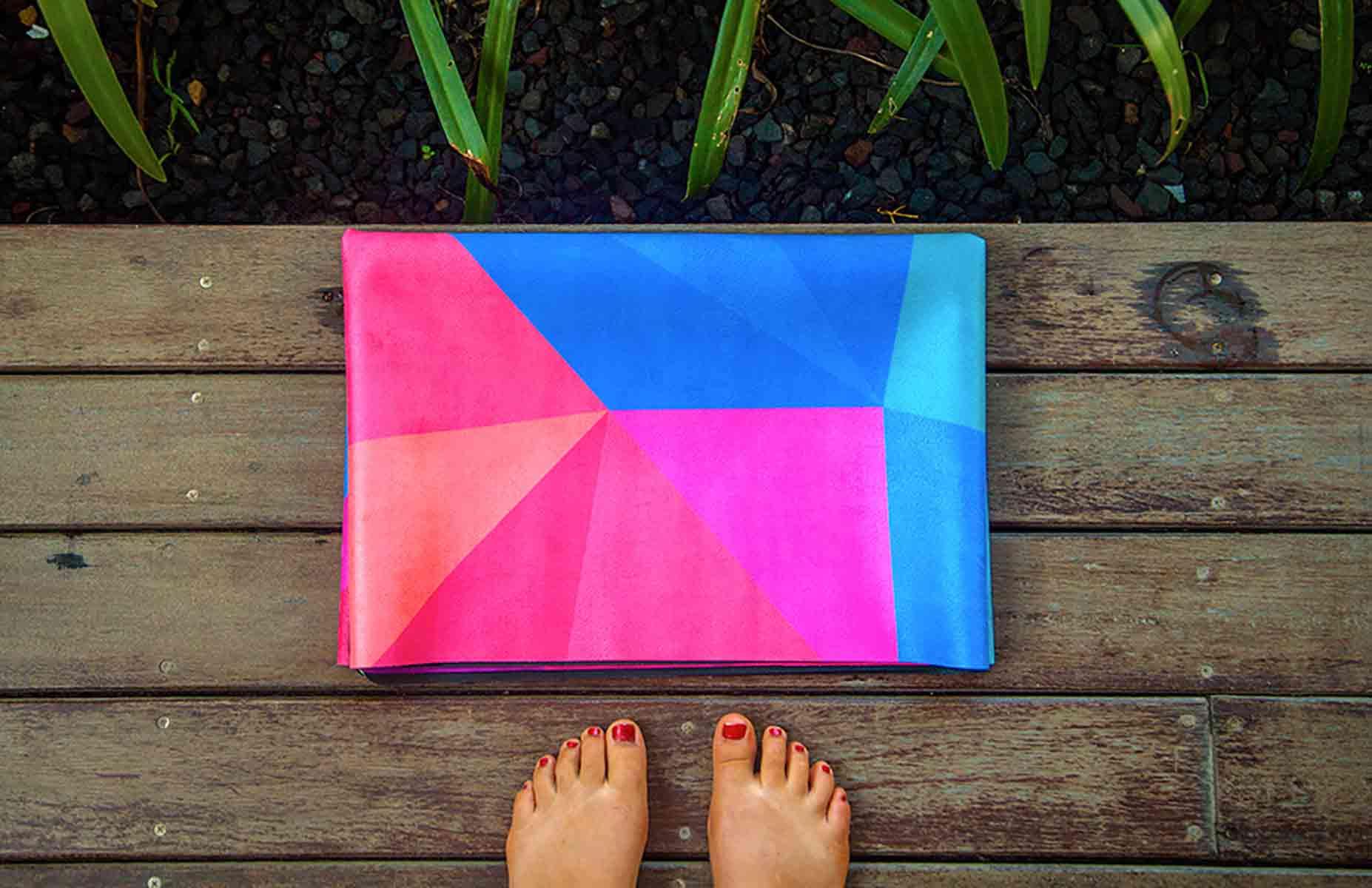 Geo Micro Fibre Travel Yoga Mat  Supawell