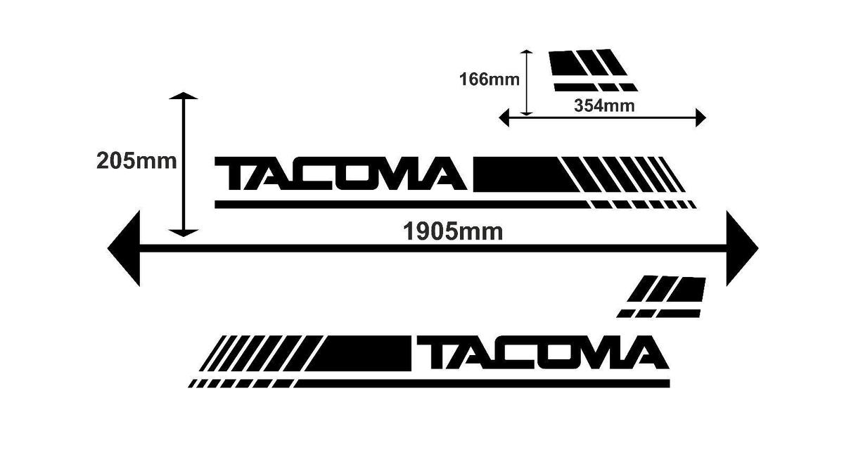 Product: 2X TOYOTA TACOMA side body decal vinyl graphics