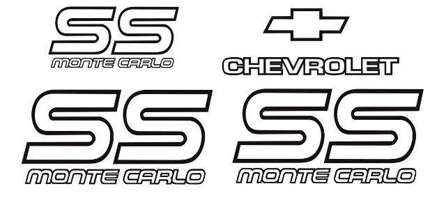 Product: Monte Carlo SS 87 88 Restoration Vinyl Decals