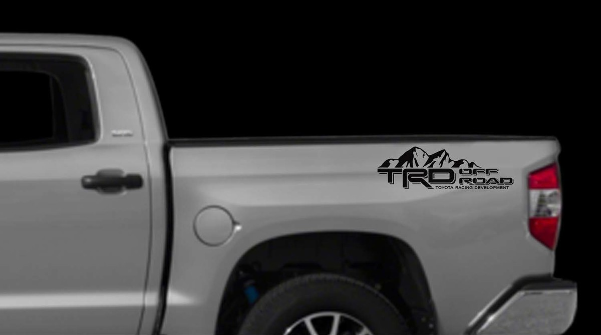 hight resolution of product trd off road mountains decals toyota tundra truck bed vinyl stickers x2