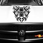 Hood Decal Tribal Vinyl Stripe For Dodge Ram 1500 Hemi Racing Sticker 4x4