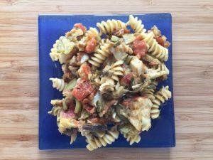 cabillaud, courgettes, tomates et oignon : une boîte à lunch santé