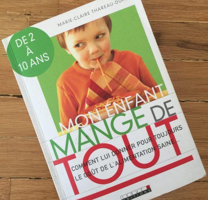 Le livre du mois : Mon enfant mange de tout