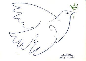 Colombe de la paix de Pablo Picasson pour Super Boîte à Lunch