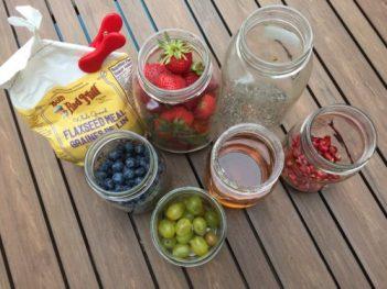 Les pots pour le yaourt garni de Super Boîte à Lunch