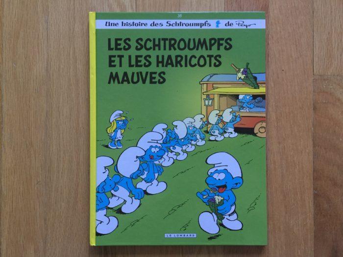 Le livre du mois : Les schtroumpfs et les haricots mauves
