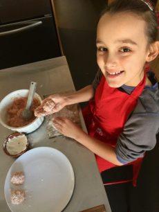 Préparation des boulettes pour Super Boîte à Lunch