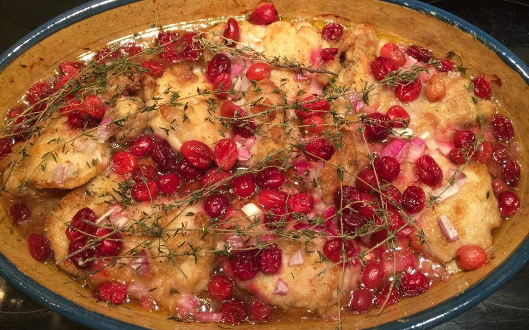 Poulet aux canneberges, érable & riz sauvage