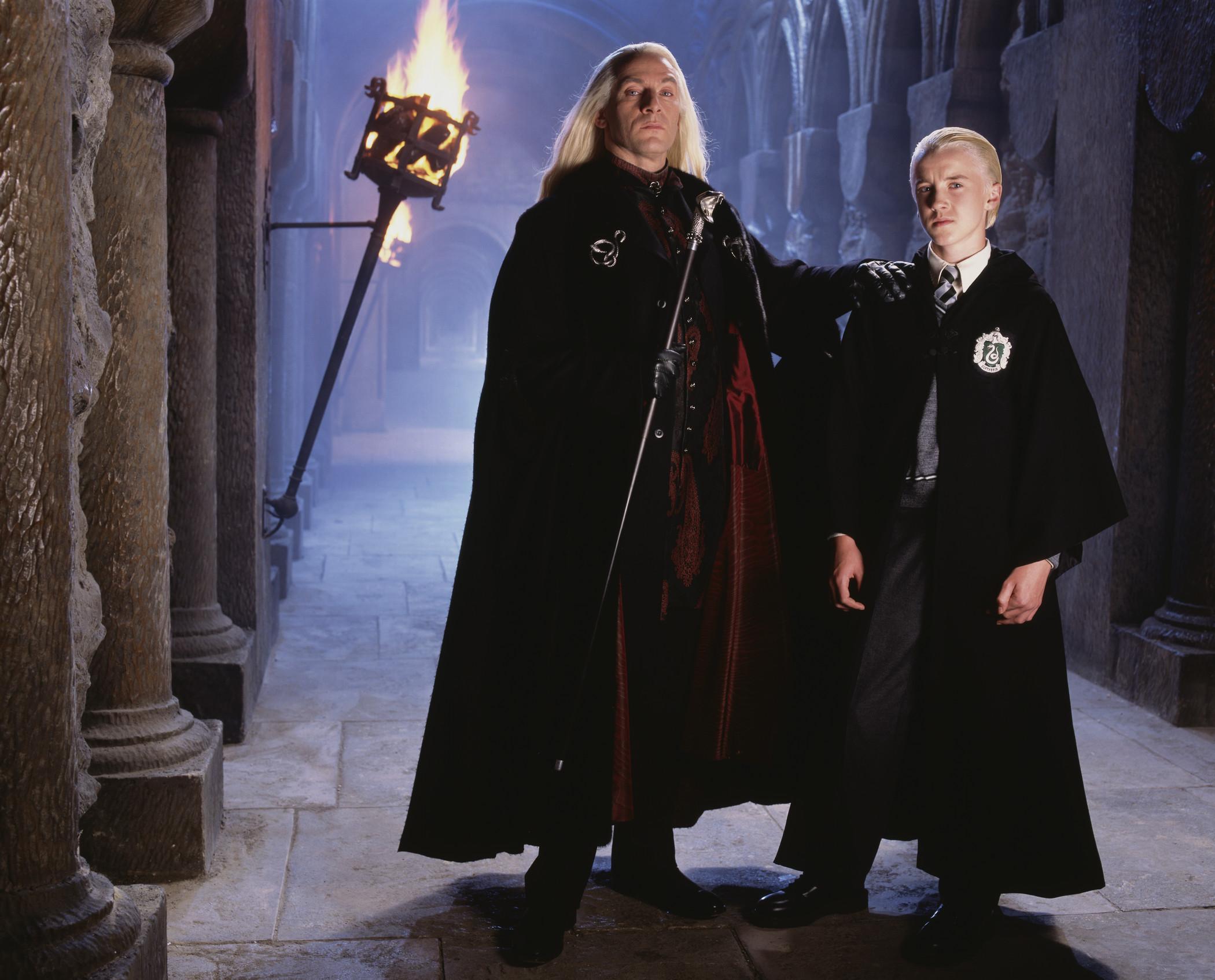 Lucius Malfoy Draco Tom Felton