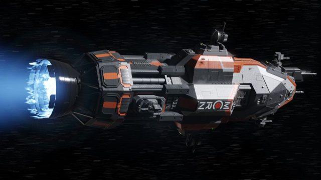 Fijaos bien en el gran motor que proporciona una gran aceleración para viajar entre planetas.