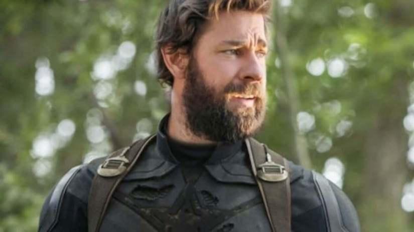 Fan art de John Krasinski como Capitán América de Infinity War
