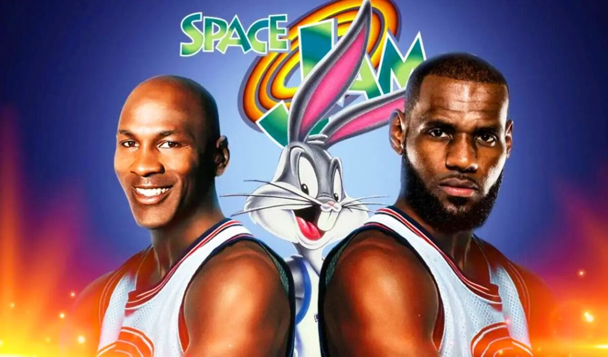 Michael Jordan y LeBron James Space Jam