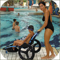 Swimming pool wheelchair Hippocampe